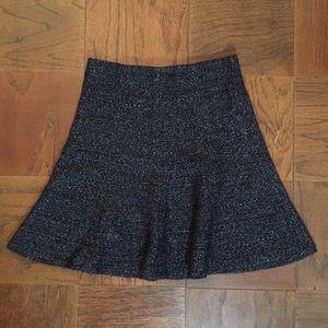 LOFT Heather Grey Flippy Skirt